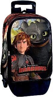 Mochila con Carro de Dragons 'Buddy' Maleta, 60 cm, 45 litros, Multicolor