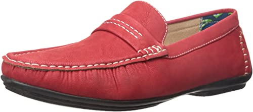Stacy Adams Men& 039;s Park Slip-On Loafer, rot, 8.5 M US