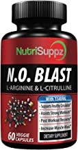 N.O Blast Nitric Oxide Supplement | L Arginine, L Arginine AKG, L Citrulline, Beta Alanine, L Citrulline Malate | Blood Circulation & Heart Health - Muscle Building Pre & Post Workout | Made in USA