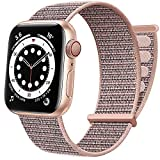 AdMaster Correa de Nylon Compatible con Apple Watch 38mm 40mm 41mm 42mm 44mm 45mm, Pulsera Deportiva Elástica Trenzada Ajustable para Mujeres Hombres para iWatch Series 7 SE 6 5 4 3 2 1