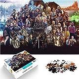 Puzzle 1000 Piezas de Juego de Tronos Puzzle Dificultades y Desafíos Juego del Trono War Fantasy Epic Serie de TV Puzzle de Madera Dificultades y Desafíos 38x52cm