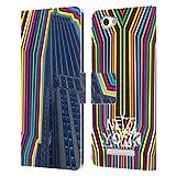 Head Case Designs Offizielle Grace Illustration Empire State Building New York Leder Brieftaschen Huelle kompatibel mit Wileyfox Spark X