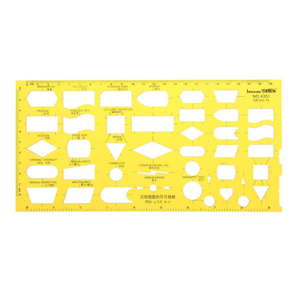 EsportsMJJ Diagrama De Flujo Organigrama Esquema De Proceso Símbolos Dibujo Plantilla Kt Plástico Suave Regla Diseño Junta
