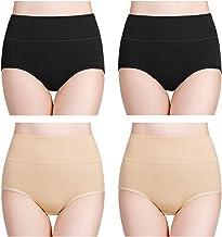 wirarpa Women's Cotton Underwear Briefs High Waist Full Coverage Soft Breathable Ladies Panties Multipack