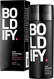 BOLDIFY Hair Fibers for Thinning Hair (MEDIUM BROWN) Undetectable & Natural - Giant 28g Bottle - Completely Conceals Hair ...
