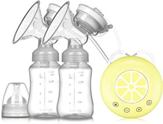 Breast Milk Extractor Double Electric Breast Pump USB Electric Breast Pump with Baby Milk Bottle Cold Heat Pad BPA Free Po...
