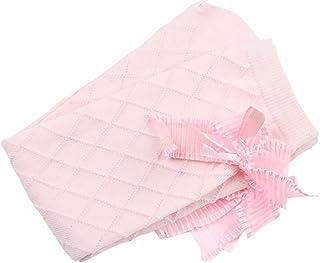 Calcetines Altas de Niña de Bowknot de Algodón Medias de Niña (Rosa)