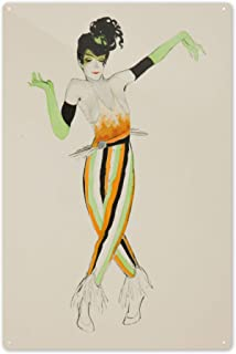 Ballet und Pantomime Vintage Poster (Artist: Schnackenberg, Walter) Germany c. 1920 64474 (6x9 Aluminum Wall Sign, Wall Decor Ready to Hang)