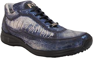 8842 Men's Sneakers Blue crcodile/Ostrich