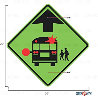 School Bus Stop Ahead Sign, School Bus Signs, S3-1, 30