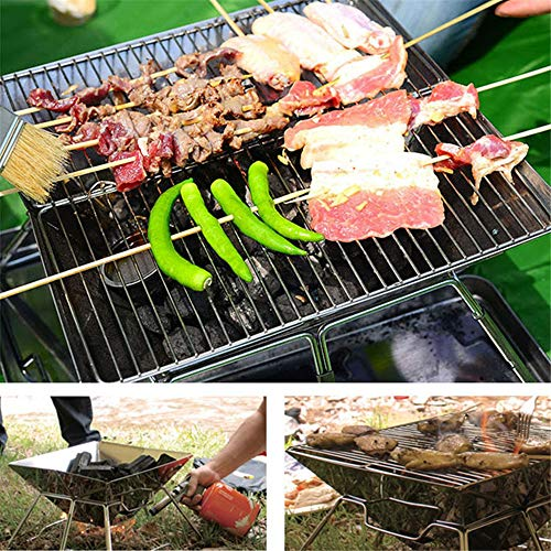 61U7mu8nROL. SL500  - YWZQ Outdoor-Holzkohle BBQ Grill, Schärfen Edelstahl Folding BBQ-Grill-Zubehör Mobile Home Küche Camping Kochen Werkzeuge