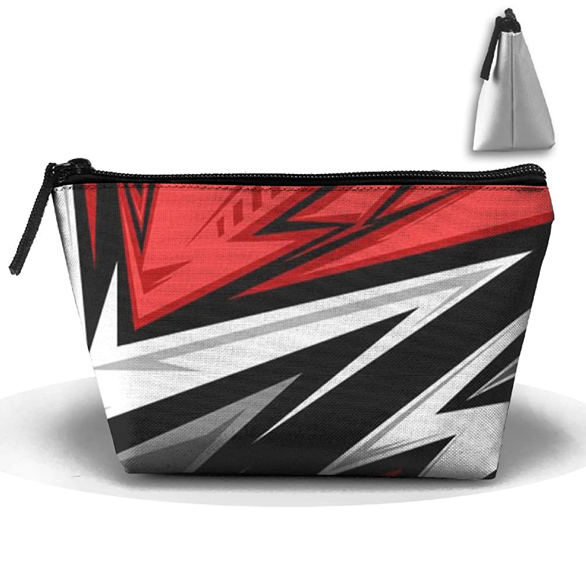 ZRTGS Vector Color Stripe Personality Portable Women Trapezoid Travel Bag Cosmetic Bag Receive Bag