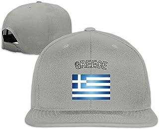 Unisex Greece Greek Flag Snapback Hats Holiday Adjustable Baseball Cap Hip Hop Trucker 100% Cotton Flat Bill Ball Hat