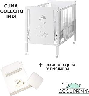 Cuna colecho Indi 120x60 + kit colecho + Bajera y Encimera