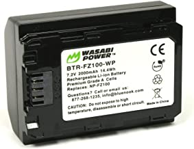 Wasabi Power Battery for Sony NP-FZ100 and Sony a9, a9 II, a7R III, a7R IV, a7S III, a7 III, a7 IV, a6600