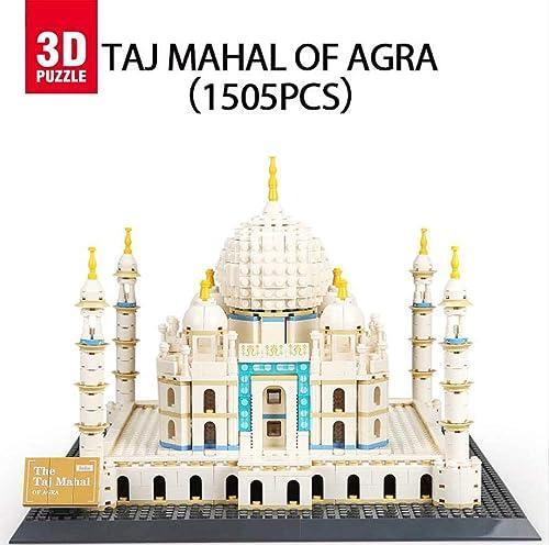 asdfgh Taj Mahal,3D-Puzzle Building BAU Eines Modell Puzzle 3D Modell Puzzle,Geschenke Und Andenken Für Erwachsene Und Kinder, Lernspielzeug, Das Mit Kindern Interagieren Kann