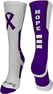MadSportsStuff Relay for Life Hope Cancer Awareness Athletic Crew Socks