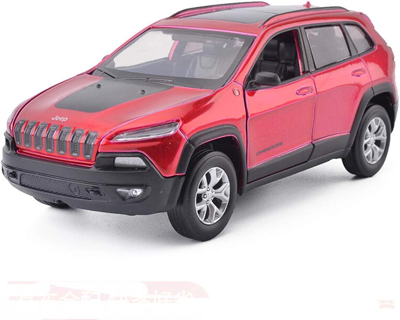 DUWEN Model Car Jeep OffRoad Vehicle Model 1 32 Emulation Alloy Car Model Toy Car Model Pull Back Model Car (color   RED)