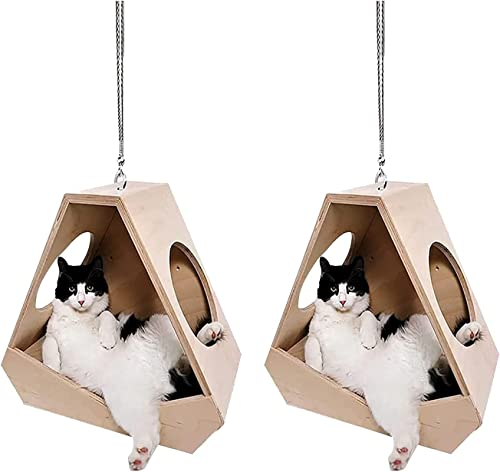high quality 2PCS Lying Cat Car Rearview Mirror outlet sale Hanging Ornament, new arrival Cute Acrylic Cat Pendant Backpack Keychain Automotive Decor Accessories outlet sale