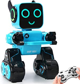 JDBABY Robot Toy for Kids, Touch & Sound Control, Built-in Piggy Bank-Music-Record-Rechargeable-Birthday Gift for Boys and Girls(Blue)