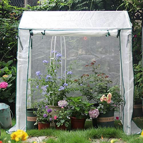 XY&CF-Flower house Serre de Jardin épais Tuyau en Acier Inoxydable Squelette PE Maille Plante à Effet de Serre (130 * 90 * 150cm)