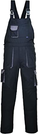 SW Men's Contrast Painters Work Wear Bib and Brace Overall Coverall Elastic Back Dungarees