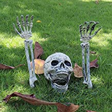 Keepax Realistic Looking Skeleton Stakes, Yard Lawn Stakes, Halloween Groundbreakers Decorations for Lawn Stakes Garden
