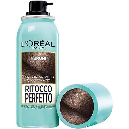 L'Oréal Paris Ritocco Perfetto, Spray Istantaneo Correttore per Radici e Capelli Bianchi, Colore: Bruno, 75 ml