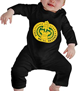 Fasenix U S Army Drill Sergeant Logo Baby Boy Girl Romper Jumpsuit Long Sleeve Black Bodysuit Overalls Outfits