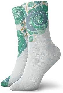 tyui7, Ilustración de Vector de flores retro Calcetines de compresión antideslizantes Calcetines acogedores de 30 cm para hombres, mujeres, niños
