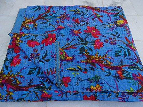 """Tribal Asian Textiles 90""""x108étnico Queen Size Colchas Ralli decorativo de Hippie boho Manta Kantha–Trabajo de ropa de cama funda nórdica de Quilts 1122"""