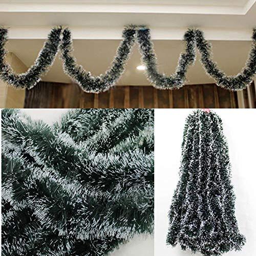 ILOVE DIY 5Pcs 200 x 8 cm Guirlandes Noel Sapin Decoration Chambre Suspendus Guirlandes de Sapin Vert Fonce Noir