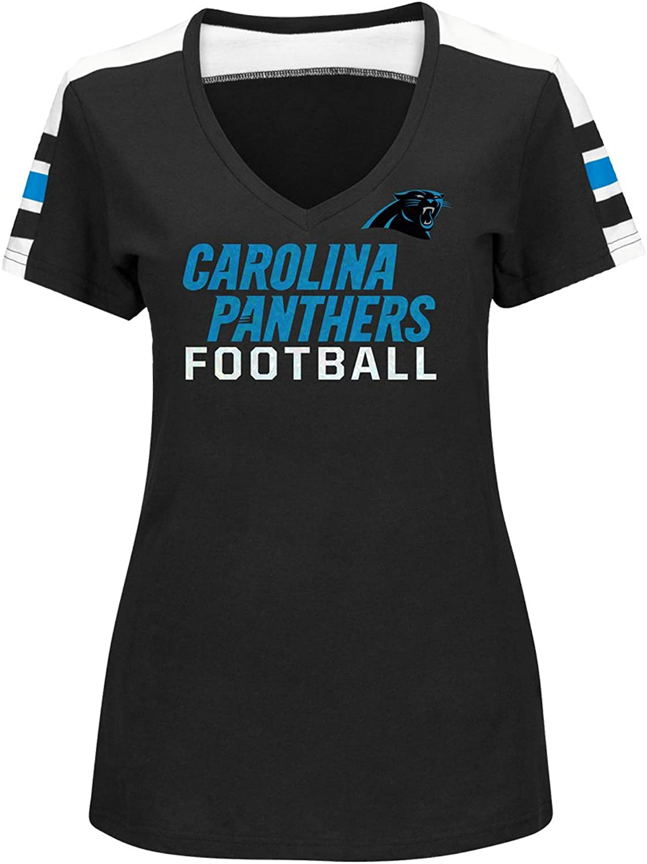 353d8037 Carolina Panthers Women's Majestic Pride Playing Vneck Fashion Top ...