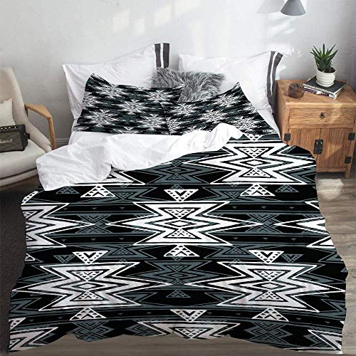 duvet cover,Colorful Black and White Tribal Navajo Aztec Abstract Geometric Ethnic Hipster design,Duvet Cover 260x220cm PillowCases 2(50x80cm)