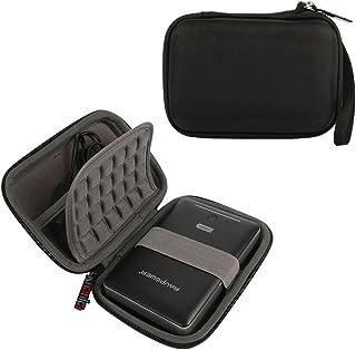 Khanka Eva Custodia Rigida da Viaggio per Western Digital WD My Passport Ultra Premium/Elements, Samsung M3 Slimline, Tosh...