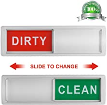 Cimkiz Dishwasher Magnet Clean Dirty Sign Shutter Only Changes When You Push It Non-Scratching Strong Magnet or 3M Adhesive Options Indicator Tells Whether Dishes Are Clean or Dirty (Silver)