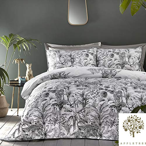 Appletree - Eden - 100% Cotton Duvet Cover Set - King Bed Size in Grey