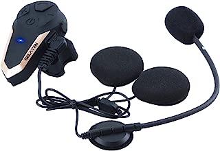 Gelaten Motorcycle Bluetooth Helmet Headset BT-S3 Wireless Interphone Helmet Communication Systems for 2 or 3 Riders (FM Radio/Handsfree/Range-1000M)&1 pack