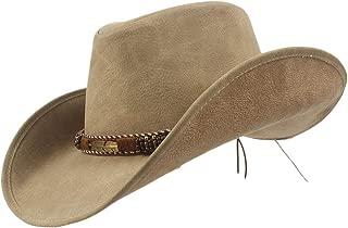 QinMei Zhou New Brand Leather Western Cowboy Hats Men Women Vintage Visor Hat Travel Performance Cowgirl Cap