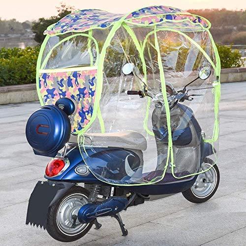 FDSAD Vollständig geschlossener Motorroller Regenschirm Mobilität Sonnenschutz und Regenschutz, Universal Auto Motorroller Regenschirm Mobilität Sonnendichter Regenschirm,B