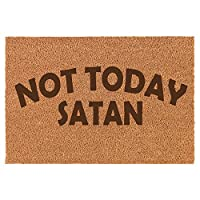 Coir Home エントリー ドアマット ドアマット Funny Not Today Satan