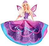 Barbie - Muñeca Vestida de Mariposa, Princesa Catania con Falda y alas desplegables, Color púrpura (Mattel Y6373)