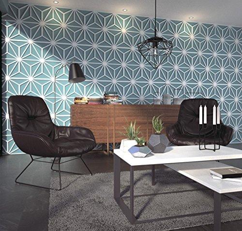 HomeArtDecor, 3D-Wandpaneele, Wandpaneele, Mitte des Jahrhunderts, Wandverkleidung, Panele 3D, Verkleidung, dekorative Wandpaneele, 3D-Fliesen