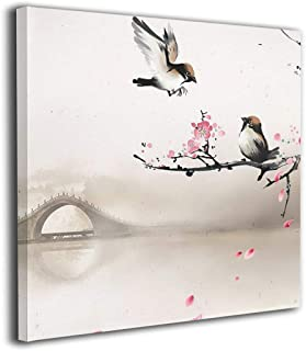 Jaylut Square Frameless Painting Print Artwork 289233-large-cherry-blossom-wallpaper-1920x1080-for-retina Drawing Picture Wall Decor for Home Office 20