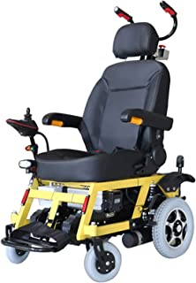 FHISD Electric Wheelchair with Lithium Battery, Stair Chair, Standing Brake, Lighting Device, Assisting up and Down Stairs