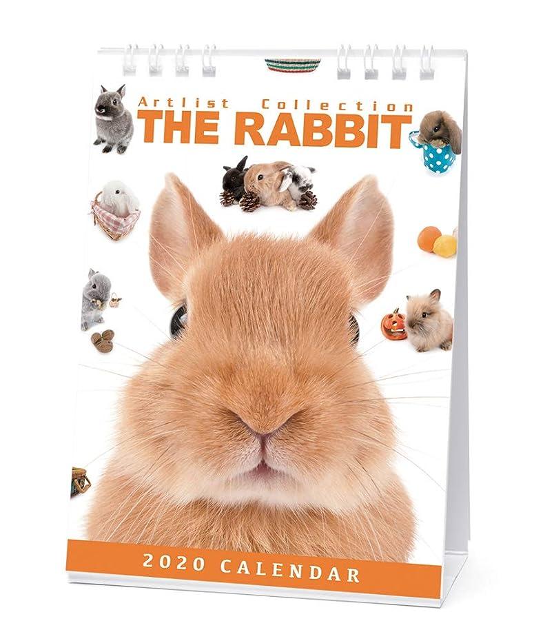 推定浜辺調和のとれたカレンダー 2020 卓上 THE RABBIT うさぎ 403378 2020年1月-2020年12月 アーリスト ウサギ 兎