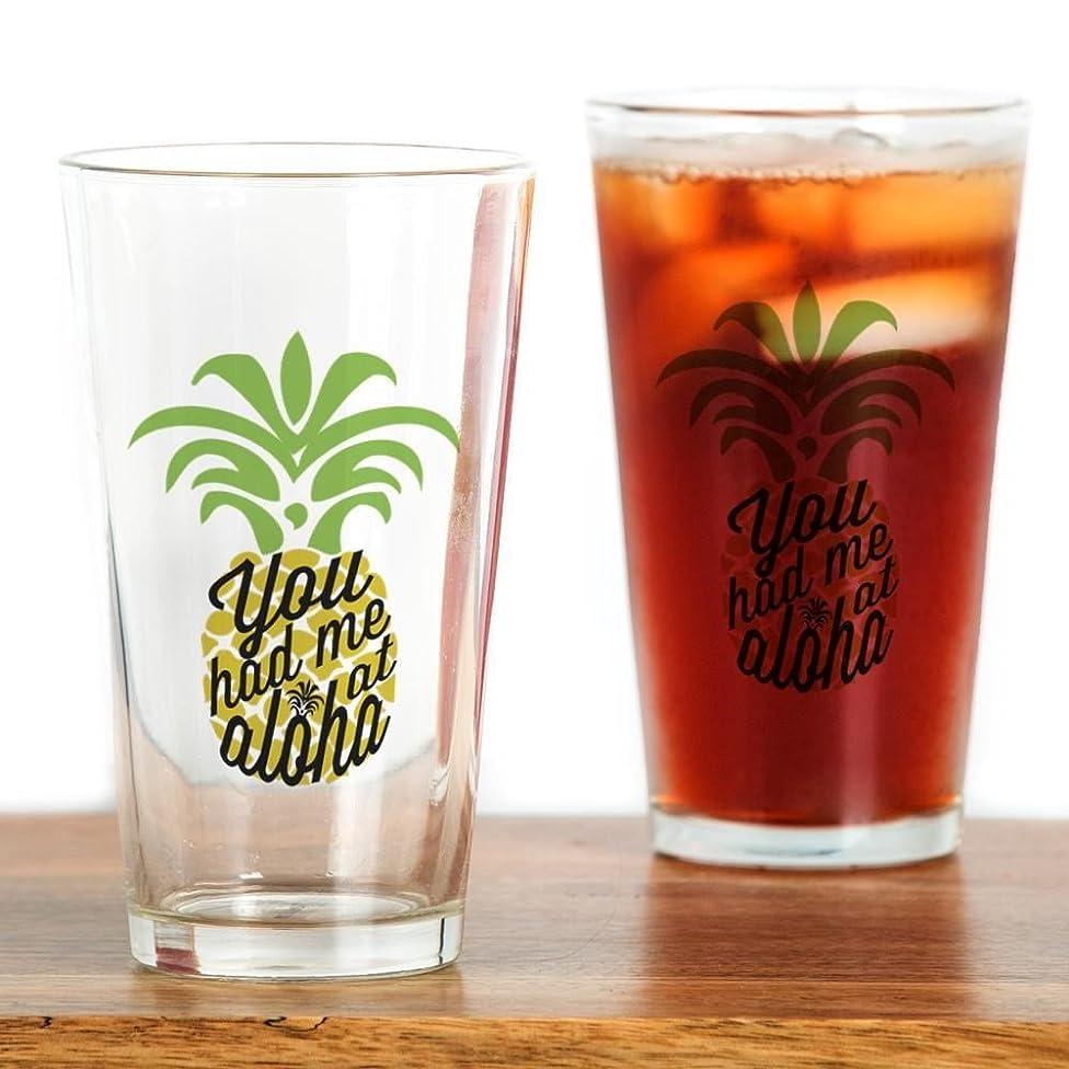 前提条件契約した情熱的CafePress?–?You Had Me At Aloha?–?パイントガラス、16オンスDrinkingガラス クリア 136259398533332