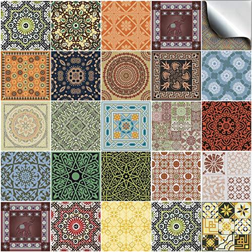 Tile Style Decals 24 stück Fliesenaufkleber für Küche und Bad 24x NTP 06-4