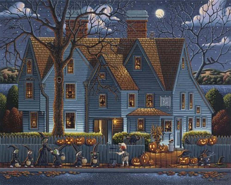 Jigsaw Puzzle - House of Seven Gables 1000 Pc By Dowdle Folk Art by Dowdle Folk Art