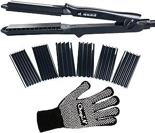 comprar comparacion CkeyiN-Plancha de Pelo,4-1 Plancha de Pelo,Plancha de Pelo Profesional Para Todo Tipo de Cabello/Negro